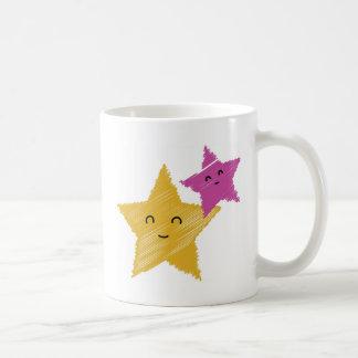 Estrellas de mar felices taza clásica