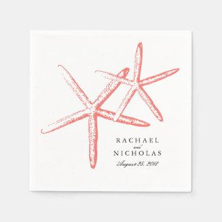 Estrellas de mar flacas el | que se casa servilleta de papel