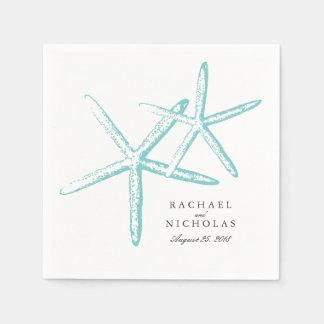 Estrellas de mar flacas el | que se casa servilletas de papel