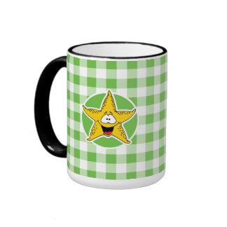 Estrellas de mar; Guinga verde Taza De Dos Colores