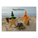 Estrellas de mar Halloween de la costa Tarjeta De Felicitación