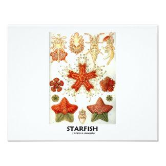 """Estrellas de mar invitación 4.25"""" x 5.5"""""""