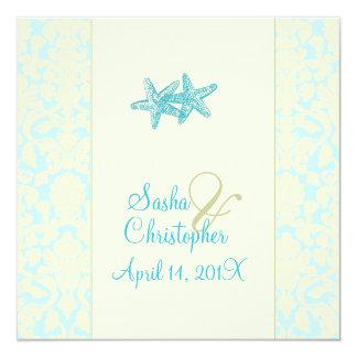 Estrellas de mar + invitaciones del boda del anuncio