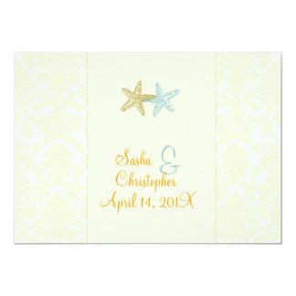 Estrellas de mar + invitaciones del boda del invitacion personal
