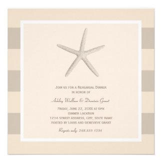 Estrellas de mar neutrales de las invitaciones el comunicados personalizados