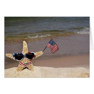 Estrellas de mar patrióticas tarjeta pequeña