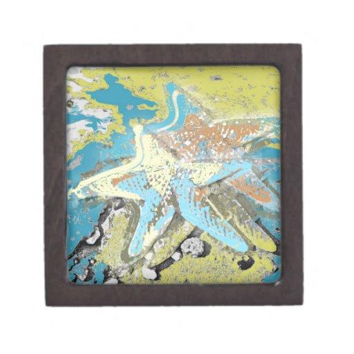 Estrellas de mar por el mar caja de joyas de calidad