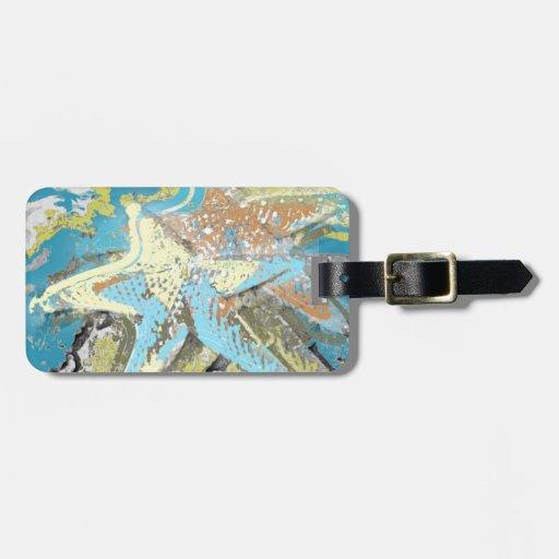 Estrellas de mar por el mar etiqueta para maleta