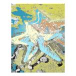 Estrellas de mar por el mar membrete a diseño