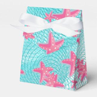 Estrellas de mar rosadas caja para regalos de fiestas