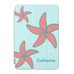 Estrellas de mar rosadas coralinas caprichosas en  cubierta de iPad mini