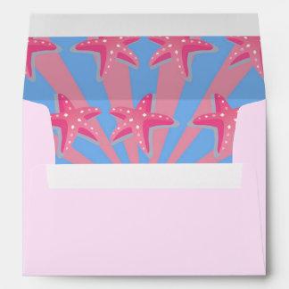 Estrellas de mar rosadas femeninas