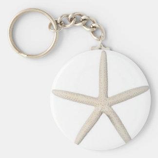 Estrellas de mar solitarias llavero redondo tipo pin