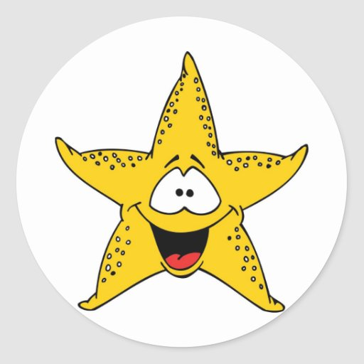 Estrellas de mar sonrientes la estrella de mar etiquetas redondas