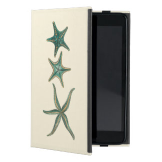 Estrellas de mar triples del Aquamarine iPad Mini Fundas