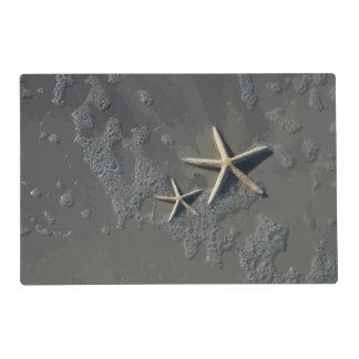 Estrellas de mar tropicales de la playa tapete individual