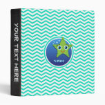 Estrellas de mar verdes; Aguamarina Chevron verde