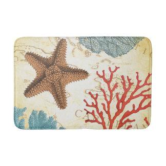 Estrellas de mar y coral del Caribe coloridos