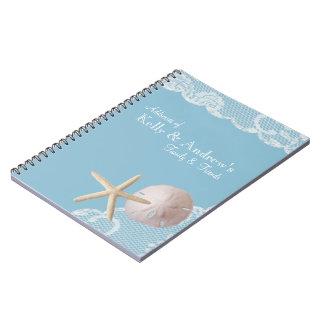 Estrellas de mar y playa del cordón libros de apuntes con espiral