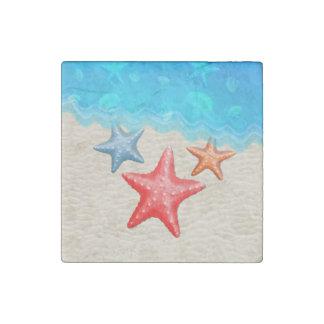 Estrellas de mar y Seashells Imán De Piedra