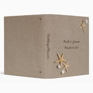 Estrellas de mar y Seashells que casan la carpeta
