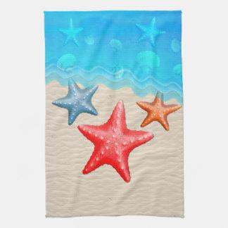 Estrellas de mar y Seashells Toalla De Mano