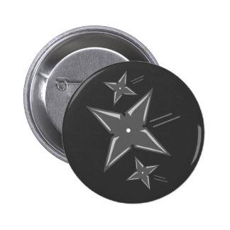 Estrellas de Ninja Pin Redondo De 2 Pulgadas