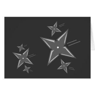 Estrellas de Ninja Tarjeta De Felicitación