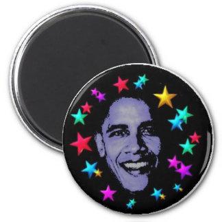 Estrellas de Obama Imán Redondo 5 Cm