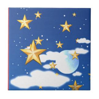 Estrellas de oro - azulejos ceramicos
