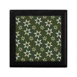 Estrellas de oro cajas de regalo