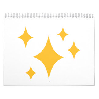 Estrellas de oro calendarios de pared