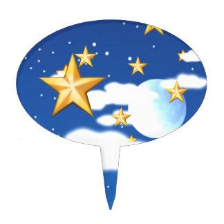 Estrellas de oro - decoraciones para tartas