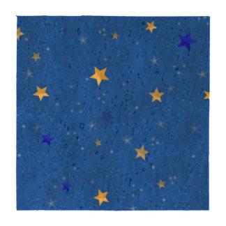 Estrellas de oro del cielo azul posavasos