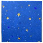 Estrellas de oro del cielo azul servilletas