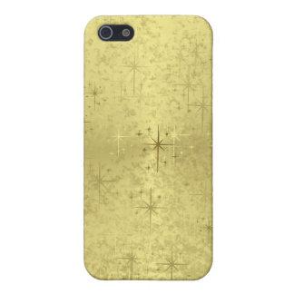 Estrellas de oro del navidad en el papel de la iPhone 5 carcasas