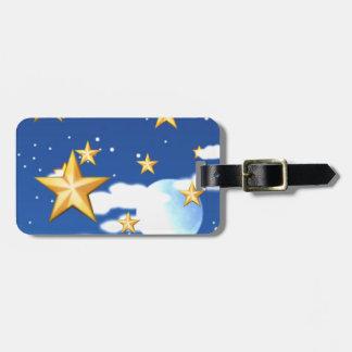 Estrellas de oro - etiquetas para maletas