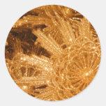 Estrellas de oro etiqueta redonda