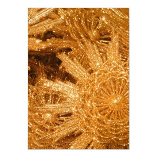 Estrellas de oro invitación 12,7 x 17,8 cm