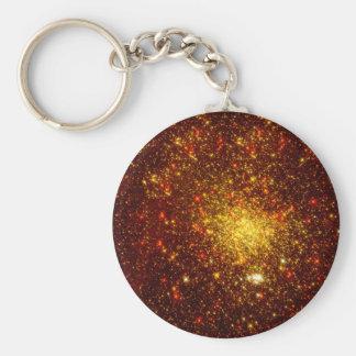 Estrellas de oro llavero personalizado