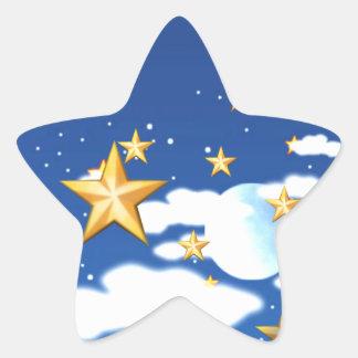 Estrellas de oro - pegatina en forma de estrella