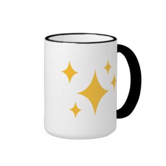 Estrellas de oro tazas de café