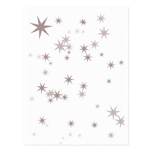 Estrellas de plata dispersadas del Faerie Postales