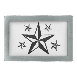 Estrellas de Seein Hebilla De Cinturon Rectangular