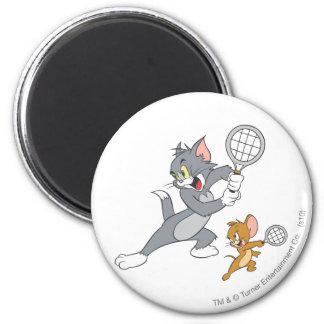 Estrellas de tenis de Tom y Jerry 1 Imán Redondo 5 Cm