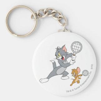 Estrellas de tenis de Tom y Jerry 1 Llavero Redondo Tipo Pin