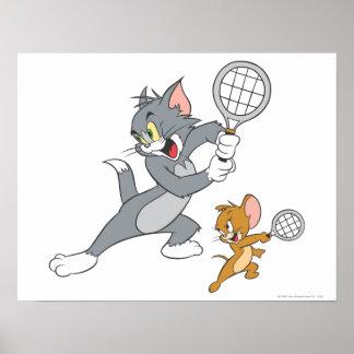 Estrellas de tenis de Tom y Jerry 1 Póster