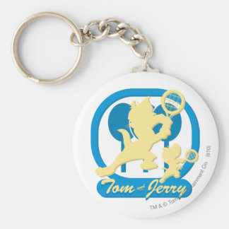Estrellas de tenis de Tom y Jerry 3 Llavero Personalizado