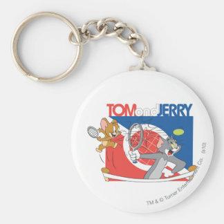 Estrellas de tenis de Tom y Jerry 4 Llavero Personalizado