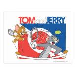 Estrellas de tenis de Tom y Jerry 4 Postales
